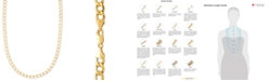 """Italian Gold 22"""" Curb Chain Necklace (5-1/10mm) in 14k Gold"""