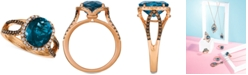 Le Vian Chocolatier Blue Topaz (4 ct. t.w.) & Diamond (3/8 ct. t.w.) Ring in 14k Rose Gold, (also in Rhodolite Garnet), Created for Macy's
