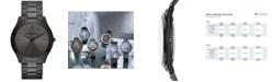 Michael Kors Unisex Slim Runway Black Ion-Plated Stainless Steel Bracelet Watch 44mm MK8507