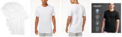 Jockey Men's 3 Pack Essential Fit Staycool + Cotton Crew Neck Undershirts