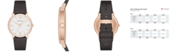 Emporio Armani Men's Brown Leather Strap Watch 43mm AR11011