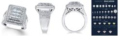 Macy's Diamond Square Cluster Ring (3 ct. t.w.) in 14k White Gold