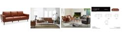 """Furniture Marsilla 88"""" Leather Sofa, Created for Macy's"""