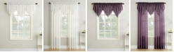"""No. 918 Crushed Sheer Voile 51"""" x 24"""" Beaded Ascot Valance"""