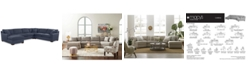 Furniture CLOSEOUT! Carena 4-Pc. Fabric Sectional Sofa with Chaise - Custom Colors, Created for Macy's