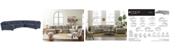 Furniture CLOSEOUT! Carena 4-Pc. Fabric Sectional Sofa with Cuddler Chaise - Custom Colors, Created for Macy's