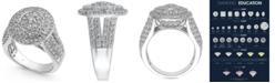 Macy's Diamond Oval Cluster Ring (2-1/2 ct. t.w.) in 14k White Gold