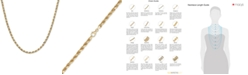 """Macy's Italian Gold Rope 22"""" Chain Necklace (3-9/10mm) in 14k Gold, Made in Italy"""