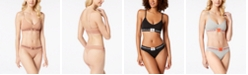 Calvin Klein Monogram Unlined Triangle Bra & Thong, First at Macy's