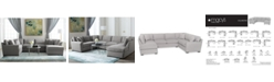 Furniture Callington Fabric Chaise Sectional Sofa Collection, Created for Macy's