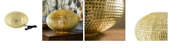 """Walker Edison 8"""" Hand-Crafted Globe Sparkle Table Lamp - Gold"""
