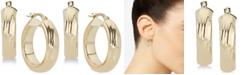Macy's Textured Hoop Earrings in 14k Gold