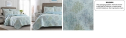 Laura Ashley Twin Saltwater Blue Quilt Set