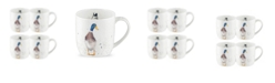 "Royal Worcester Wrendale Duck Mug 'Guard Duck"" - Set of 4"
