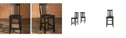 """Crosley School House Bar Stool With 24"""" Seat Height (Set Of 2)"""
