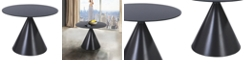 Armen Living Brittany Contemporary Dining table:  In Grey Matte Finish And Grey Glass Top
