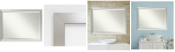 Amanti Art Brushed Sterling 44x34 Bathroom Mirror