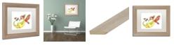 "Trademark Global Jennifer Nilsson Cheerful - Dragon 10 Matted Framed Art - 11"" x 14"" x 0.5"""