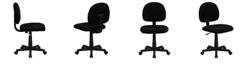 Flash Furniture Mid-Back Black Fabric Swivel Task Chair