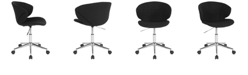 Flash Furniture Cambridge Home And Office Upholstered Mid-Back Chair In Black Fabric