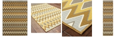"""Oriental Weavers Bali 1732D Gray/Gold 3'7"""" x 5'6"""" Indoor/Outdoor Area Rug"""