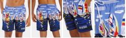 "Nautica Nautica Men's Blue Sail Quick Dry 8"" Swim Trunks, Created for Macy's"