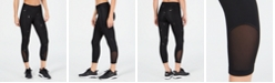 Nike Metallic Logo-Printed Cropped Leggings