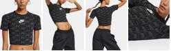 Nike Air Logo-Print Cropped T-Shirt