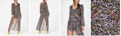 Material Girl Juniors' Printed Cutout Walk-Through Dress, Created for Macy's