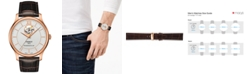 Tissot Men's Swiss Automatic T-Classic Tradition Brown Leather Strap Watch 40mm