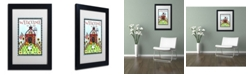 "Trademark Global Jennifer Nilsson Down on the Farm Matted Framed Art - 18"" x 24"" x 2"""