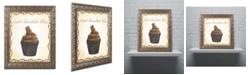 "Trademark Global Jennifer Nilsson Chocolate Cupcake Ornate Framed Art - 16"" x 16"" x 0.5"""