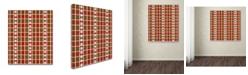 "Trademark Global Jennifer Nilsson Snow Plaid 2 Canvas Art - 11"" x 11"" x 0.5"""