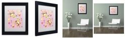 """Trademark Global Jennifer Nilsson Bunny Eggs Chicks Matted Framed Art - 14"""" x 14"""" x 2"""""""