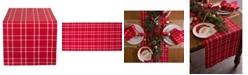 Design Imports Holly Berry Plaid Table Runner