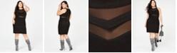 Emerald Sundae Trendy Plus Size Illusion Bandage Dress