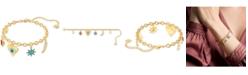 Swarovski Gold-Tone Lucky Goddess Charm Bracelet
