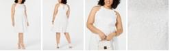 BCX Trendy Plus Size  Lace Halter Dress