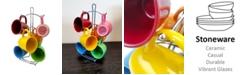 Color Curve 7 Piece Mug Set with Metal Rack