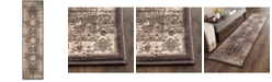 "Safavieh Vintage Black and Ivory 2'2"" x 8' Runner Area Rug"