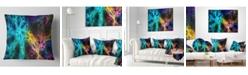 "Design Art Designart 'Glowing Abstract Fireworks' Abstract Throw Pillow - 16"" x 16"""