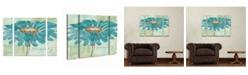 "Trademark Innovations Chris Paschke 'Spa Daisies I' Multi Panel Art Set Small 3 Piece - 44"" x 44"" x 2"""