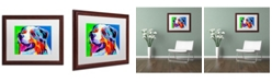 """Trademark Global DawgArt 'Aussie' Matted Framed Art - 16"""" x 20"""" x 0.5"""""""