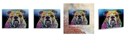 "Trademark Global Dean Russo 'The Bulldog' Floating Brushed Aluminum Art - 22"" x 16"" x 1"""