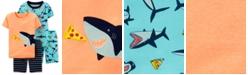 Carter's Baby Boys 4-Pc. Shark Pajamas Set