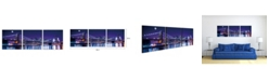 "Chic Home Decor Cityline 3 Piece Wrapped Canvas Wall Art NYC Skyline -16"" x 48"""