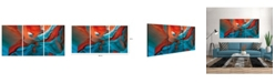 """Chic Home Decor Enigma 3 Piece Set Wrapped Canvas Wall Art Desert Cave -20"""" x 40"""""""