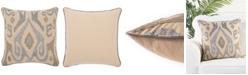 "Jaipur Living Chilano Silver/Gold Ikat Poly Throw Pillow 18"""