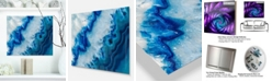 "Design Art Designart 'Geode Slice Macro' Abstract Metal Wall Art - 20"" X 12"""