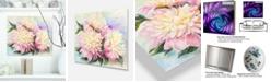 "Design Art Designart 'Blooming Pink Peonies' Floral Metal Wall Art - 20"" X 12"""